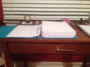 Ever wonder what 83,000 words looks like printed out and stuffed in a binder?